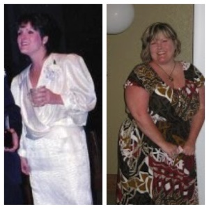 This is my before weight gain and after pic