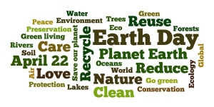 Earth day word cloud